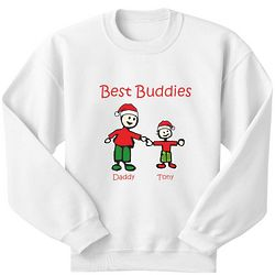 Personalized Santa Best Buddies Youth Sweatshirt