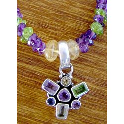 Charm of Wisdom Amethyst and Citrine Choker