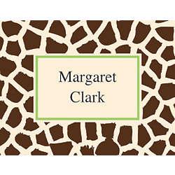 Giraffe 10 Personalized Notecards & Envelopes