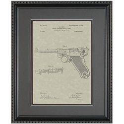 Luger Handgun Framed Patent Art Print