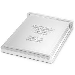 Silver Notepad Holder