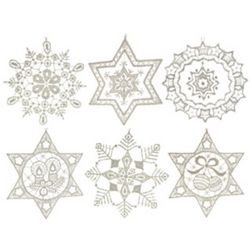 Handcrafted German Lace Snowflake Ornaments