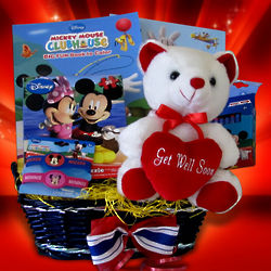 Kid's Mickey Mouse Get Well Gift Basket