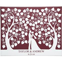 Wedding Couple Personalized 11x14 Canvas Wall Art