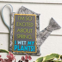 Wet My Plants Wooden Garden Sign