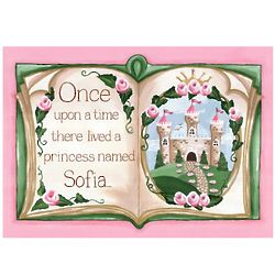 Personalized Upon a Time Storybook Wall Hanging