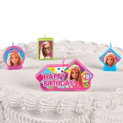 Barbie Sparkle Happy Birthday Candles
