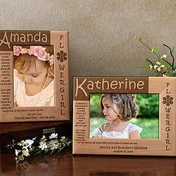 Personalized Flower Girl Poem Wooden Picture Frame