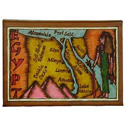 Egypt Map Leather Photo Album In Color