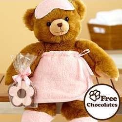 "Pamper Her 16"" Deluxe Bear with Chocolate Flower"