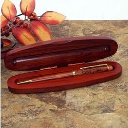 Rosewood Ballpoint Pen in Rosewood Display Case