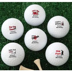 Personalized Over The Hill Birthday Golf Balls