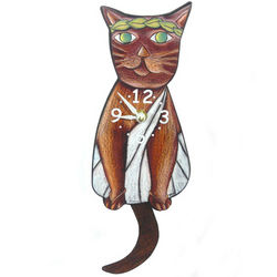 Toga Cat Pendulum Clock