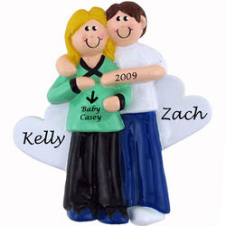 Expecting Couple Personalized Ornament