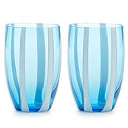 Gessato Glass Tumblers