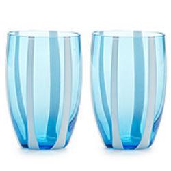 Gessato Glass Tumblers