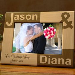 Personalized Just You and I 4x6 Wooden Picture Frame
