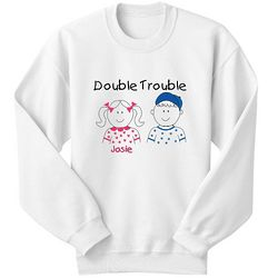 Personalized Twins Youth Sweatshirt