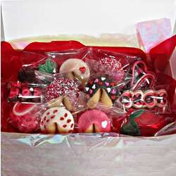 Valentine Fortune Cookie and Chocolate Gift Box