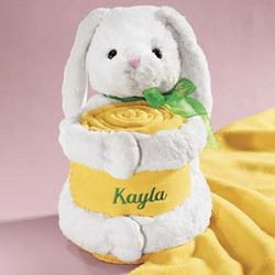 Plush Bunny with Blanket