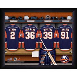 Personalized New York Islanders Locker Room Print