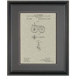 First Bicycle Framed Patent Art Print