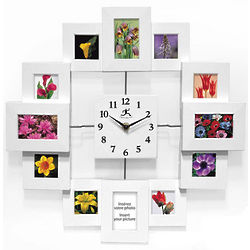 Infinity Time Capsule White Picture Frame Wall Clock