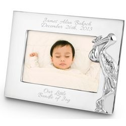 Mariposa Stork 4x6 Picture Frame