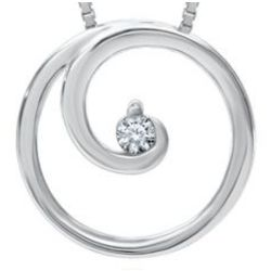 Circle of Love Diamond Pendant in Sterling Silver