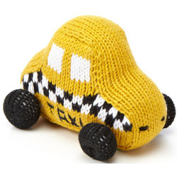 Yellow Taxi Baby Rattle