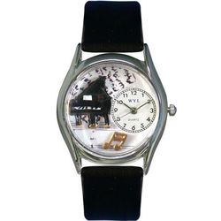Music Piano Watch with Small Silver Style Case