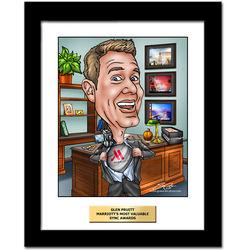 Corporate Award Fully Custom Caricature