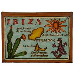 Ibiza Map Leather Photo Album In Color