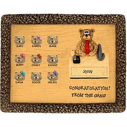 Personalized Bears Retirement Plaque for Boss