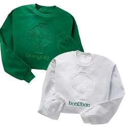 Personalized Embossed Celtic Cross Sweatshirt