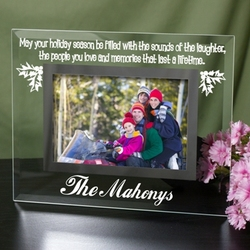 Personalized Glass Holiday Frame