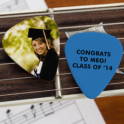 Congrats Grad! Personalized Photo Guitar Pick Favors