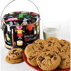 Birthday Animal Chocolate Chip Cookies Tin