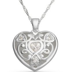 Engravable Trilogy Heart Necklace