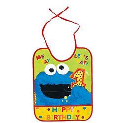 Cookie Monster 1st Birthday Bib