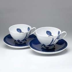 True Blue Coffee Cups and Saucers Set