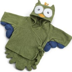 Hooded Owl Bath Robe