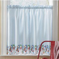 Snowman Window Treatment Tiers