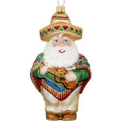 Mexican Themed Santa Christmas Ornament