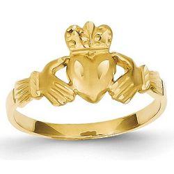 Irish Claddagh Ring in 14 Karat Gold