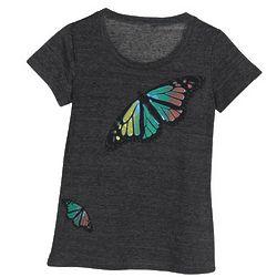 Butterflies Scoop-Neck T-Shirt