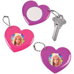 12 Barbie Sparkle Mirror Key Chains