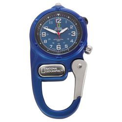 Carabiner Clip Watch with LED Micro-Light in Blue