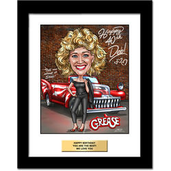 Over the Hill Personalized Caricature Art