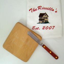 Personalized Kitchen Towel or Cutting Board Set